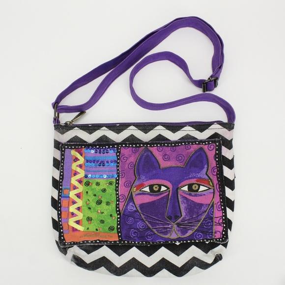 Laurel Burch Handbags - Laurel Burch Cat Cross Body Purse
